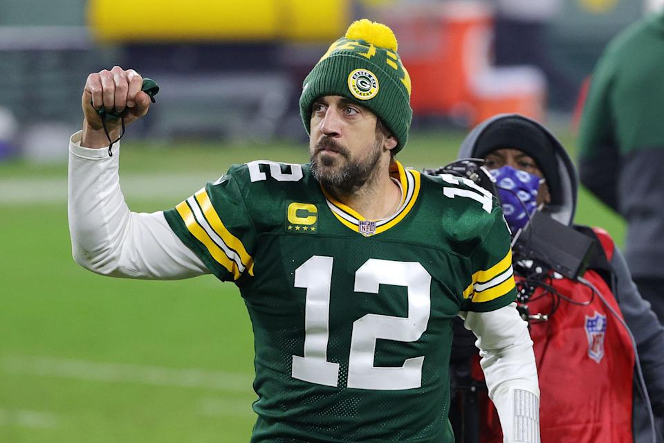 Green Bay Packers quarterback Aaron Rodgers was voted the NFL's Most Valuable Player for the 2020 season. (Photo: Getty Images)