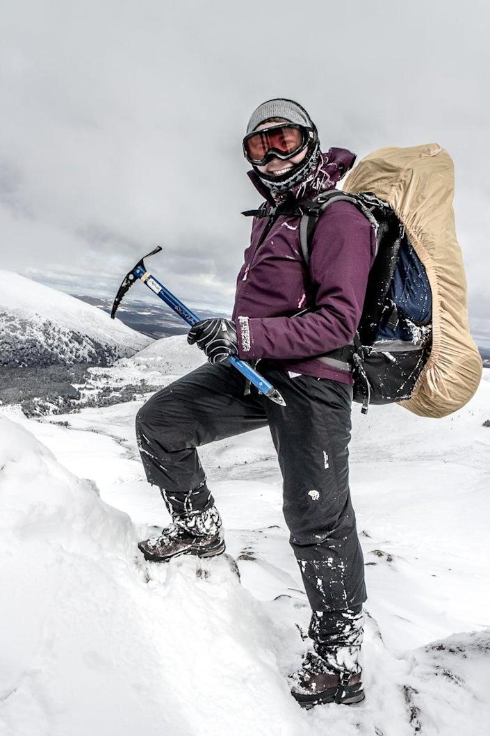 Kirk on an expedition in Scotland during snowy conditions (Handout/PA)