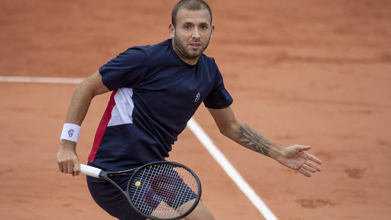 Dan Evans, pictured here in action at the French Open.