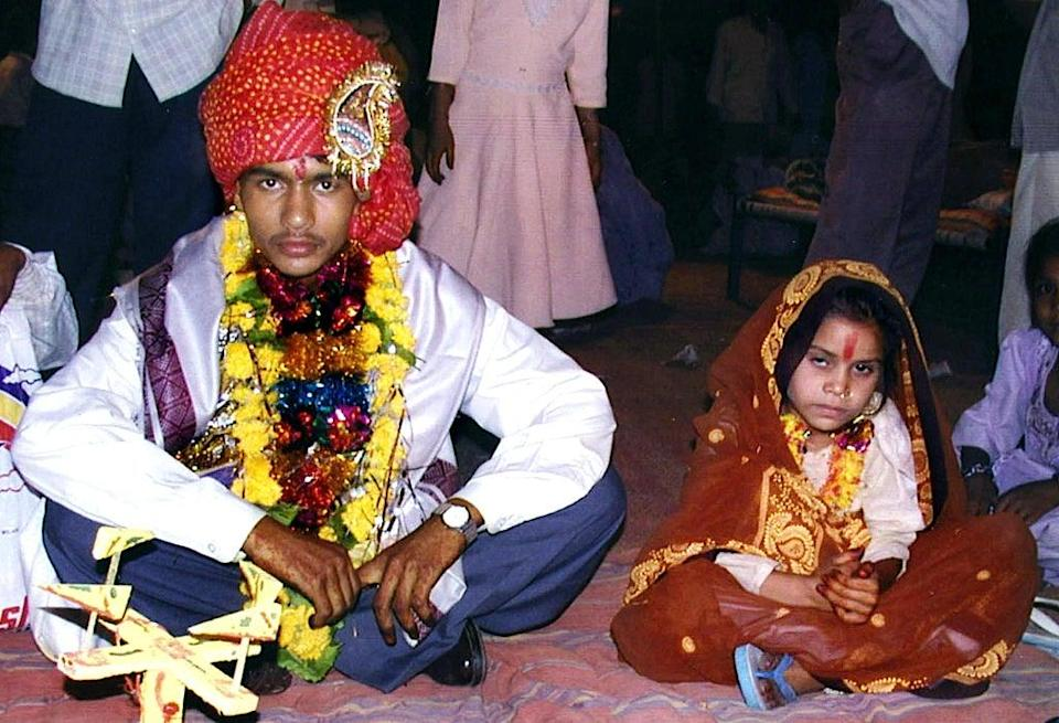 File: India saw a 50% rise in child marriages in 2020, according to the country's national crime data (AFP via Getty Images)