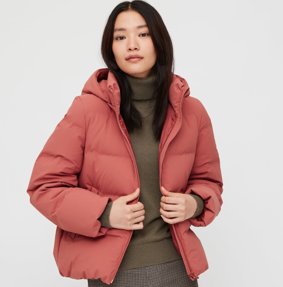 Seamless Down Coat by Uniqlo.