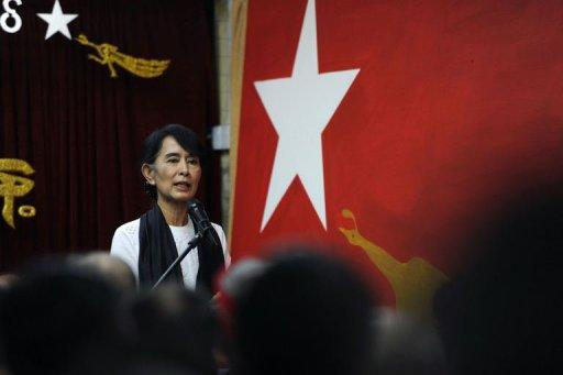 <p>Myanmar opposition leader Aung San Suu Kyi on Wednesday called for laws to protect the rights of ethnic minorities in her first ever speech to the country's fledgling parliament.</p>