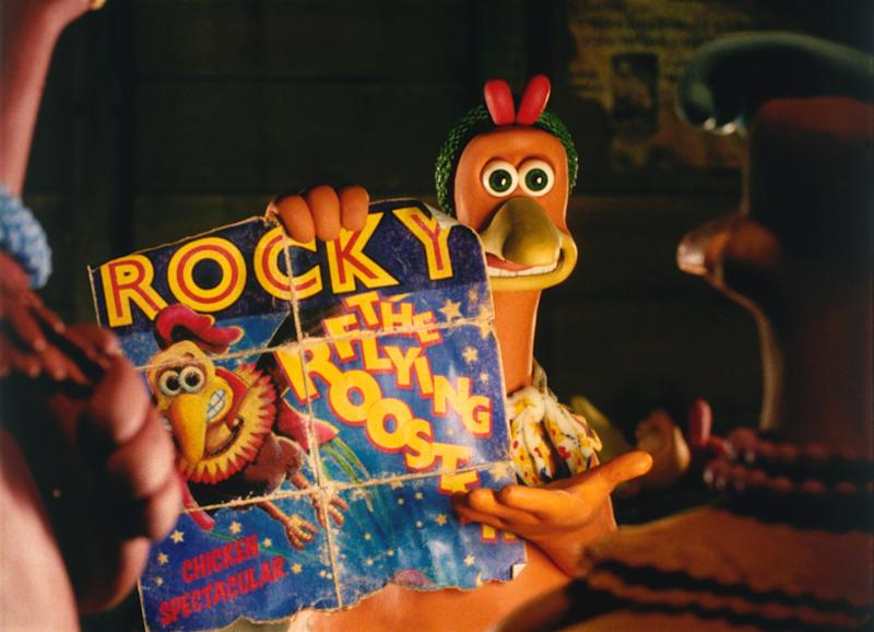 370922 01: Ginger, with the voice of Julia Sawalha, shows the chicken flock how to escape from Tweedy''s Egg Farm in the clay animation comedy ''Chicken Run'' premiering June 23, 2000. (Photo by DreamWorks)