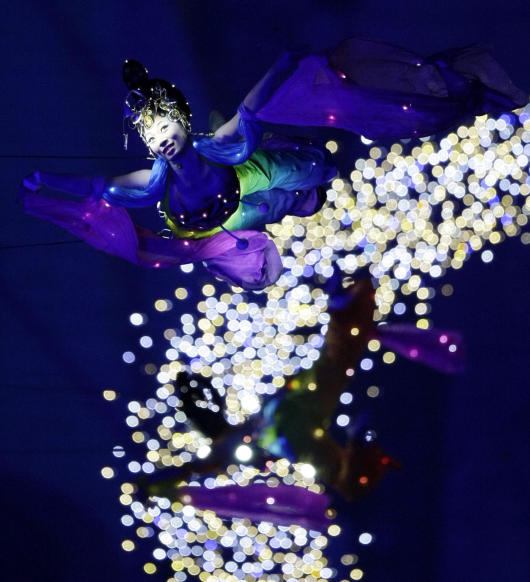 Dancers perform during the opening ceremonies for the Beijing 2008 Olympics in Beijing, Friday, Aug. 8, 2008. (AP Photo/Ricardo Mazalan)