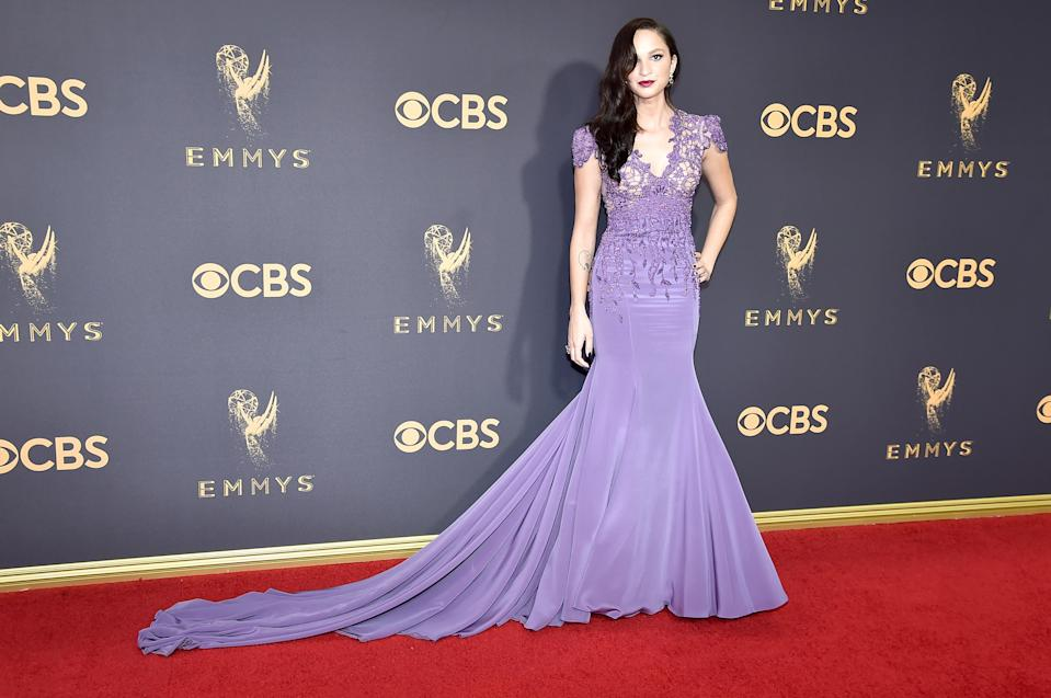 <p>Ruby Modine attends the 69th Primetime Emmy Awards on Sept. 17, 2017.<br> (Photo: Getty Images) </p>