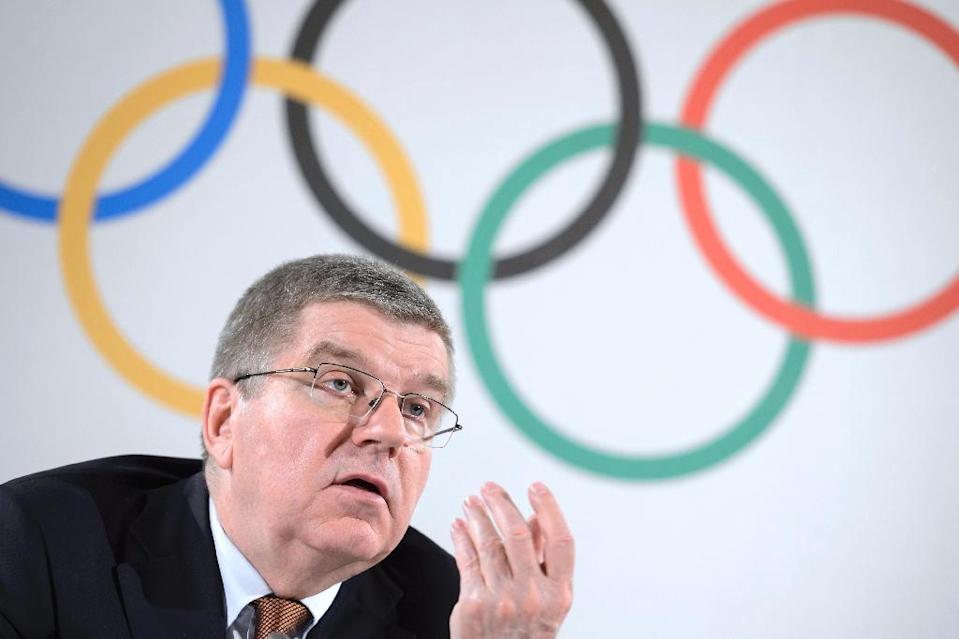 """IOC president Thomas Bach said there would be """"zero tolerance"""" against athletes found to have been doping during the Sochi Games (AFP Photo/Fabrice Coffrini)"""