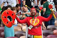 <p>Mexican fans are among the most enthusiastic with their fancy dress, and this supporter is no exception. (Getty) </p>
