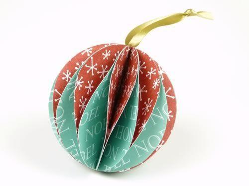 "<p>This ornament is easy to make using double-sided patterned scrapbook paper. The result is a colorful and eye-catching round ball you can hang from your tree with ribbon.</p><p><em><a href=""https://www.homemade-gifts-made-easy.com/make-christmas-ornaments.html"" rel=""nofollow noopener"" target=""_blank"" data-ylk=""slk:Get the tutorial at Homemade Gifts Made Easy»"" class=""link rapid-noclick-resp"">Get the tutorial at Homemade Gifts Made Easy»</a></em><br></p><p><strong>RELATED</strong>: <a href=""https://www.goodhousekeeping.com/holidays/christmas-ideas/g34660266/best-quarantine-christmas-ornaments/"" rel=""nofollow noopener"" target=""_blank"" data-ylk=""slk:8 Christmas Ornaments That Perfectly Sum Up 2020"" class=""link rapid-noclick-resp"">8 Christmas Ornaments That Perfectly Sum Up 2020</a></p>"