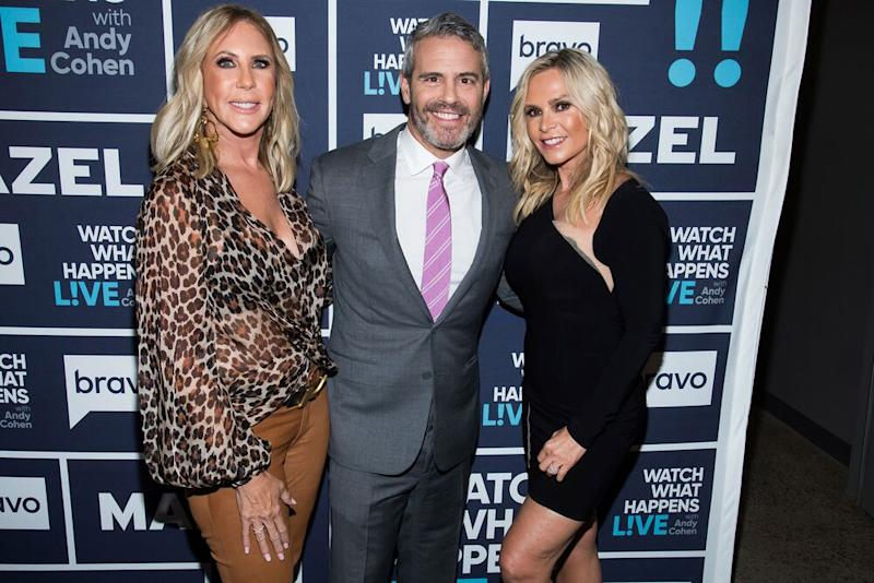 Vicki Gunvalson, Andy Cohen, and Tamra Judge | Charles Sykes/Bravo/NBCU Photo Bank/NBCUniversal via Getty Images