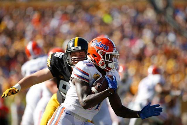"<a class=""link rapid-noclick-resp"" href=""/ncaaf/players/255010/"" data-ylk=""slk:Antonio Callaway"">Antonio Callaway</a> had 54 catches for 721 yards and three touchdowns in 2016. (Getty)"