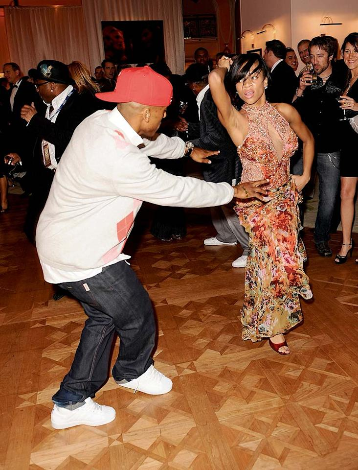 """""""Shawty Get Loose"""" singer Lil Mama lets loose on the dance floor. Michael Caulfield/<a href=""""http://www.wireimage.com"""" target=""""new"""">WireImage.com</a> - February 10, 2008"""