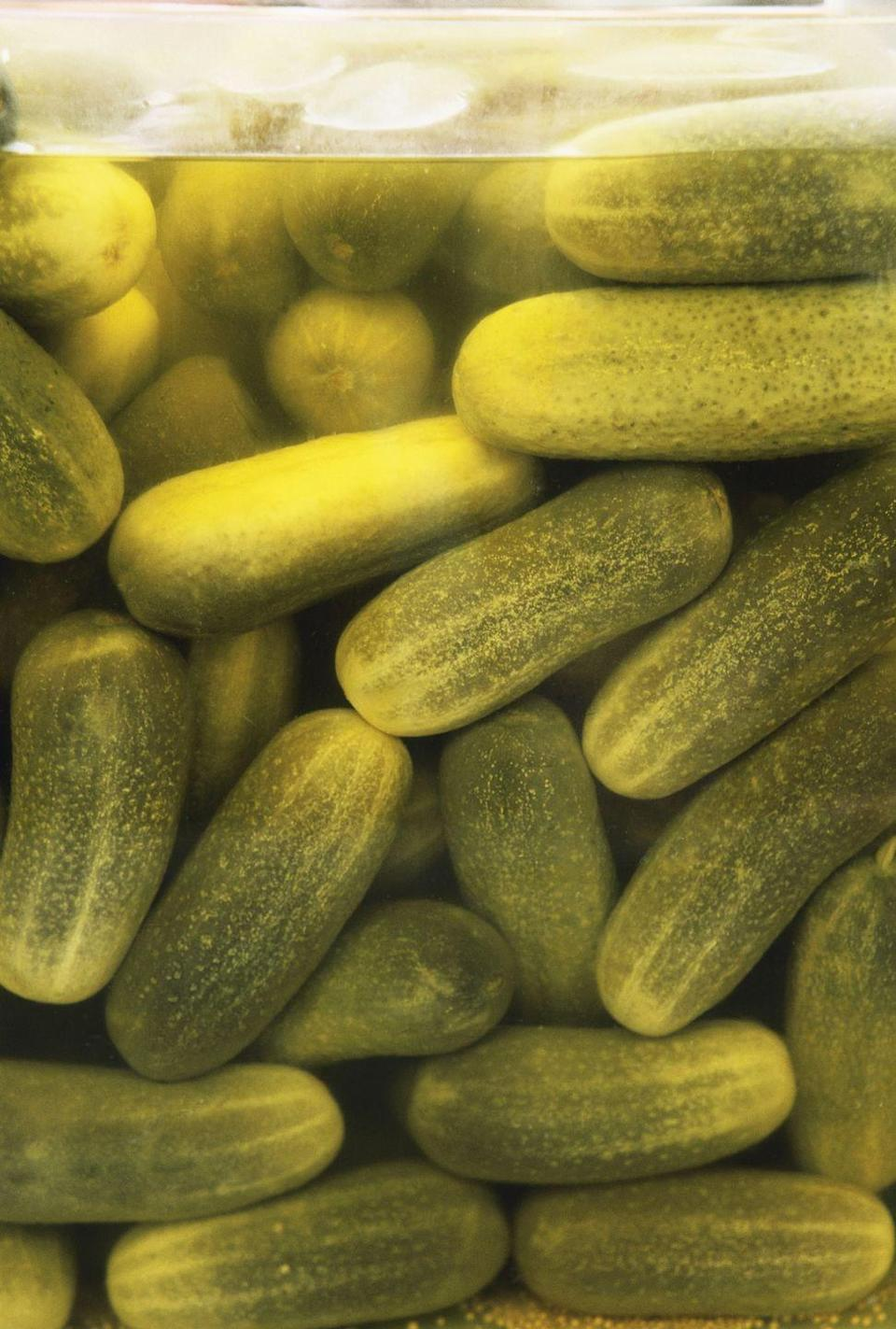 <p>Due to past confusion about the difference between a pickle and a cucumber in Connecticut, the law now decrees that a pickle must bounce to qualify as our beloved, salty snack.</p>