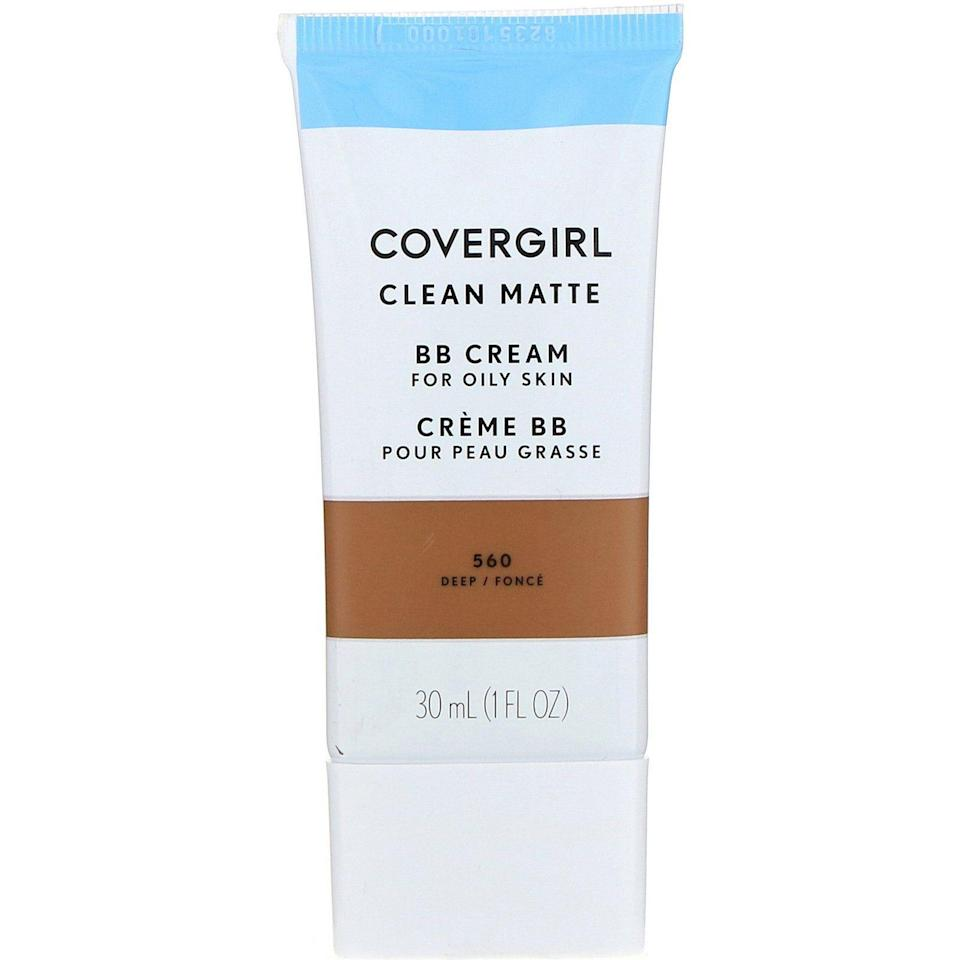 "<p><strong>COVERGIRL</strong></p><p>amazon.com</p><p><strong>$6.94</strong></p><p><a href=""https://www.amazon.com/dp/B01E527F6A?tag=syn-yahoo-20&ascsubtag=%5Bartid%7C10056.g.34601110%5Bsrc%7Cyahoo-us"" rel=""nofollow noopener"" target=""_blank"" data-ylk=""slk:Shop Now"" class=""link rapid-noclick-resp"">Shop Now</a></p><p>Getting a matte finish is difficult with most moisturizers, let alone BB creams. Pick up COVERGIRL's oily skin-friendly formula if you want a matte, natural look, while still streamlining your skin steps. </p>"