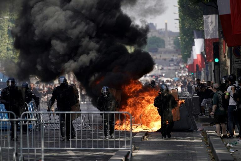 Clashes in 2018 and 2019 turned the Champs-Elysees into a virtual war zone