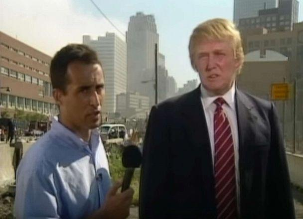 PHOTO: In this screen grab from a video posted to YouTube by bachenheimer2011, Donald Trump gives an interview right after the terror attacks of 9/11, in New York. (bachenheimer2011/YouTube)