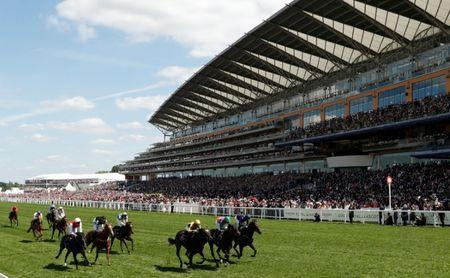 Horse Racing - Royal Ascot - Ascot Racecourse, Ascot, Britain - June 21, 2018 General view as Shang Shang Shang ridden by Joel Rosario leads during the 2.30 Norfolk Stakes Action Images via Reuters/Andrew Boyers