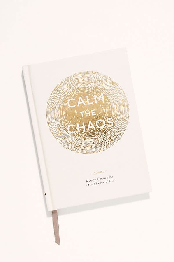 "<p>Just the act of writing in this <a href=""https://www.popsugar.com/buy/Calm-Chaos-Journal-501500?p_name=Calm%20The%20Chaos%20Journal&retailer=freepeople.com&pid=501500&price=15&evar1=savvy%3Aus&evar9=42853178&evar98=https%3A%2F%2Fwww.popsugar.com%2Fsmart-living%2Fphoto-gallery%2F42853178%2Fimage%2F46761718%2FCalm-Chaos-Journal&list1=gifts%2Cstress%2Cwellness%2Cgift%20guide%2Canxiety%2Cgifts%20for%20women&prop13=mobile&pdata=1"" rel=""nofollow"" data-shoppable-link=""1"" target=""_blank"" class=""ga-track"" data-ga-category=""Related"" data-ga-label=""https://www.freepeople.com/shop/calm-the-chaos-journal/?category=wellness-products&amp;color=000"" data-ga-action=""In-Line Links"">Calm The Chaos Journal</a> ($15) will feel therapeutic.</p>"