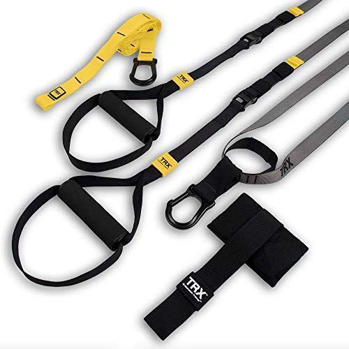 "<p><strong>TRX</strong></p><p>amazon.com</p><p><strong>$129.85</strong></p><p><a href=""https://www.amazon.com/dp/B01LXL27XI?tag=syn-yahoo-20&ascsubtag=%5Bartid%7C2089.g.362%5Bsrc%7Cyahoo-us"" rel=""nofollow noopener"" target=""_blank"" data-ylk=""slk:Shop Now"" class=""link rapid-noclick-resp"">Shop Now</a></p><p>It doesn't take a lot to equip someone for a solid home workout — especially with these suspension straps. Using the straps adds resistance to your own body weight, whether you're working your arms, legs, or entire body. </p><p>The best part is that this system can be used anywhere, as long as there's something strong (like a door or tree) to use as an anchor.<br></p>"