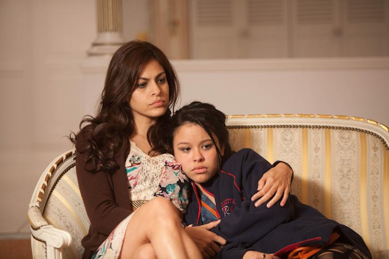 """In this film image released by Pantelion Films, Eva Mendes, left, and Cierra Ramirez are shown in a scene from """"Girl in Progress."""" (AP Photo/Pantelion Films, Bob Akester)"""