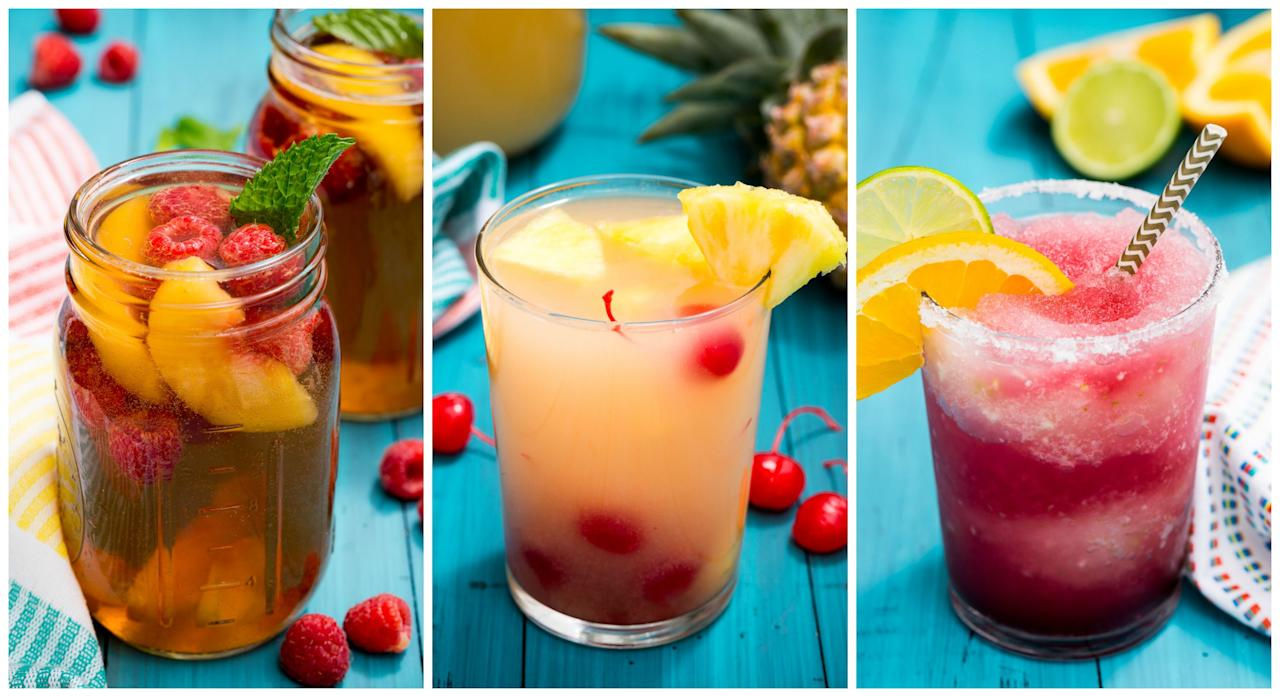 <p>Whether you prefer red or white, these homemade sangrias will make any hour happy.</p>
