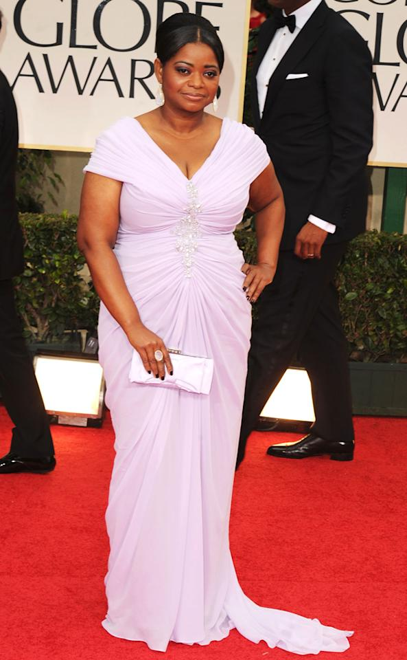 Octavia Spencer arrives at the 69th Annual Golden Globe Awards in Beverly Hills, California, on January 15.
