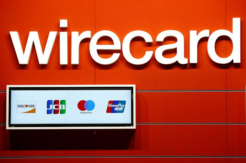 A logo of Wirecard is seen on a booth at the computer games fair Gamescom in Cologne, Germany, August 22, 2018. REUTERS/Wolfgang Rattay