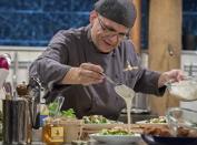 """<p>Producers look for chefs who will thrive in the <em>Chopped</em> environment and try to spot this skill through <a href=""""https://www.thrillist.com/eat/nation/chopped-food-network-tv-show-try-out"""" rel=""""nofollow noopener"""" target=""""_blank"""" data-ylk=""""slk:interview questions"""" class=""""link rapid-noclick-resp"""">interview questions</a> and your past work.</p>"""