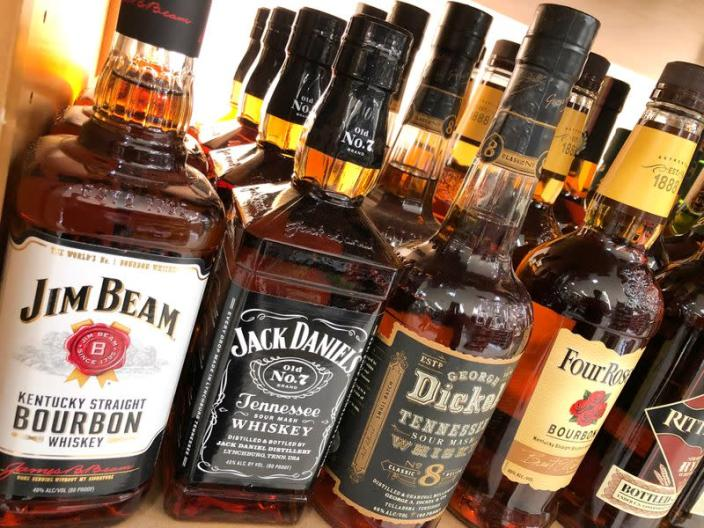 FILE PHOTO: A bottle of Jack Daniels is shown for sale among other brands in the liquor section of a food market in Encinitas, California