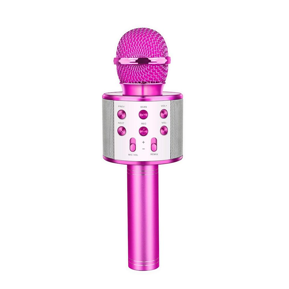 <p>If they're dreaming of being a musician, gift them this <span>Let's Go! Wireless Karaoke Microphone with Bluetooth Speaker</span> ($26). It'll make for a fun night in for the whole family.</p>