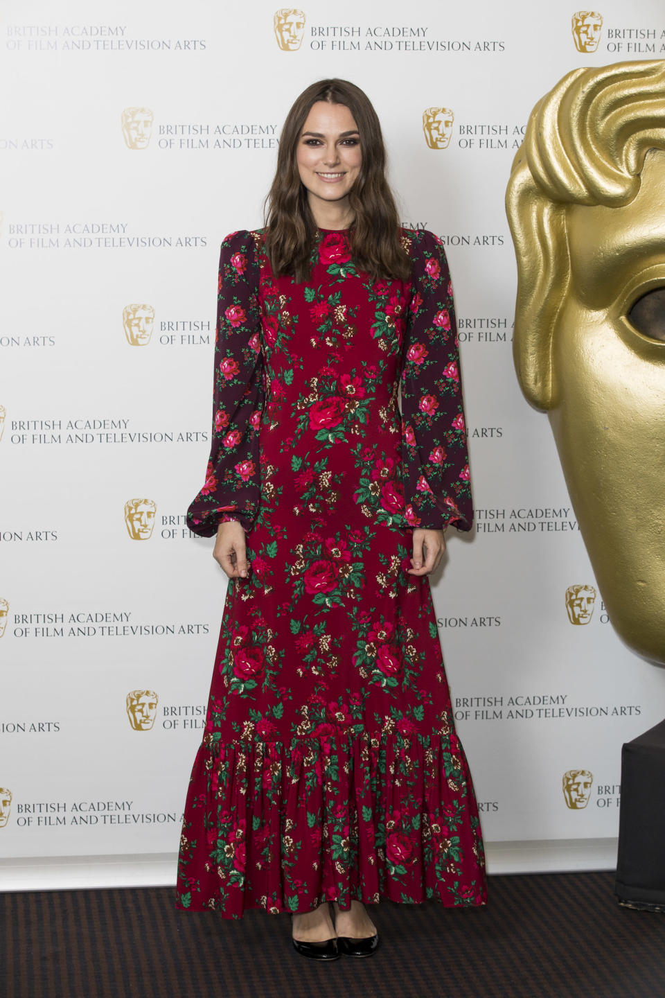 <p>Keira picked out a floral, ankle-grazing dress by current 'it' label The Vampire's Wife for her moment in the spotlight.<em> [Photo: Getty]</em> </p>