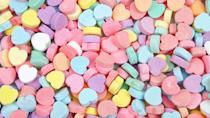 """<p>This colorful background is sweeter than sugar — but we totally get it if you want to snack on some Conversation Hearts throughout the call. </p><p><a class=""""link rapid-noclick-resp"""" href=""""https://go.redirectingat.com?id=74968X1596630&url=https%3A%2F%2Fwww.1800flowers.com%2Fvirtual-backgrounds&sref=https%3A%2F%2Fwww.goodhousekeeping.com%2Fholidays%2Fvalentines-day-ideas%2Fg35192608%2Fvalentines-day-zoom-backgrounds%2F"""" rel=""""nofollow noopener"""" target=""""_blank"""" data-ylk=""""slk:DOWNLOAD HERE"""">DOWNLOAD HERE</a></p>"""