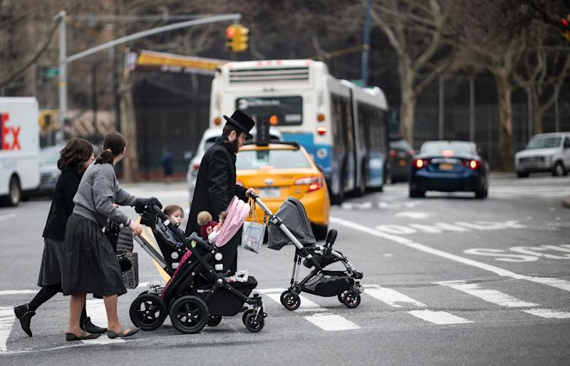 New York has mandated measles vaccinations following an outbreak of the disease among the Orthodox Jewish community (AFP Photo/Johannes EISELE)