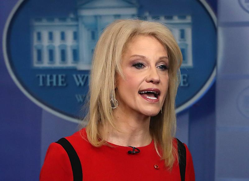 "Kellyanne Conway, presidential counselor and a ""Badass Woman of Washington,"" according to CNN."