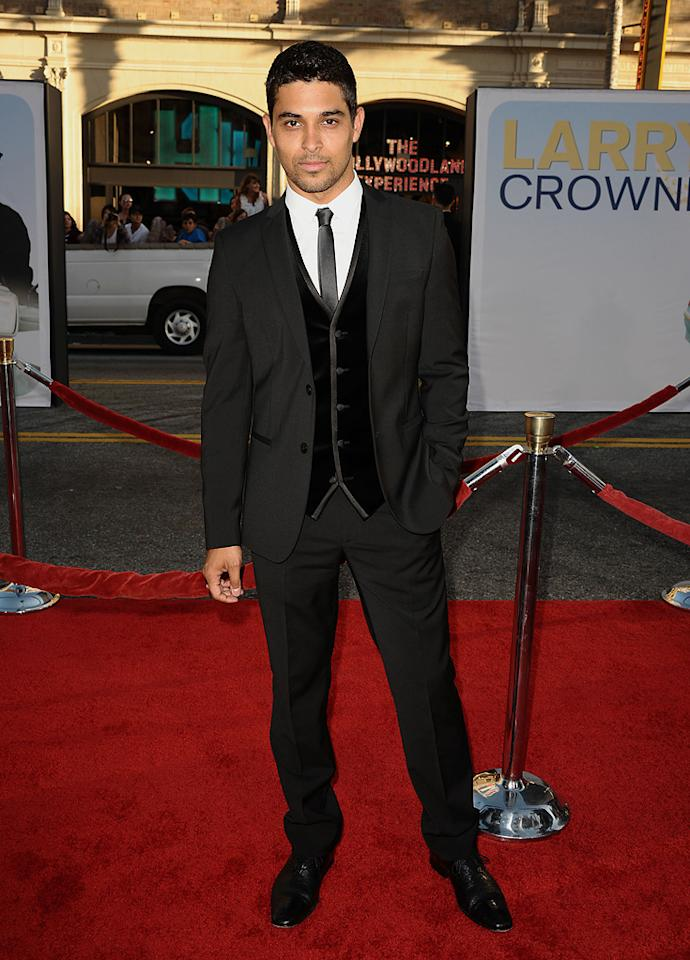 "<a href=""http://movies.yahoo.com/movie/contributor/1802813594"">Wilmer Valderrama</a> at the Los Angeles premiere of <a href=""http://movies.yahoo.com/movie/1810196533/info"">Larry Crowne</a> on June 27, 2011."