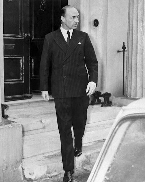 British War State Secretary John Profumo, seen in 1963, became associated with a sex and espionage scandal that forced his resignation in 1963 (AFP Photo/-)