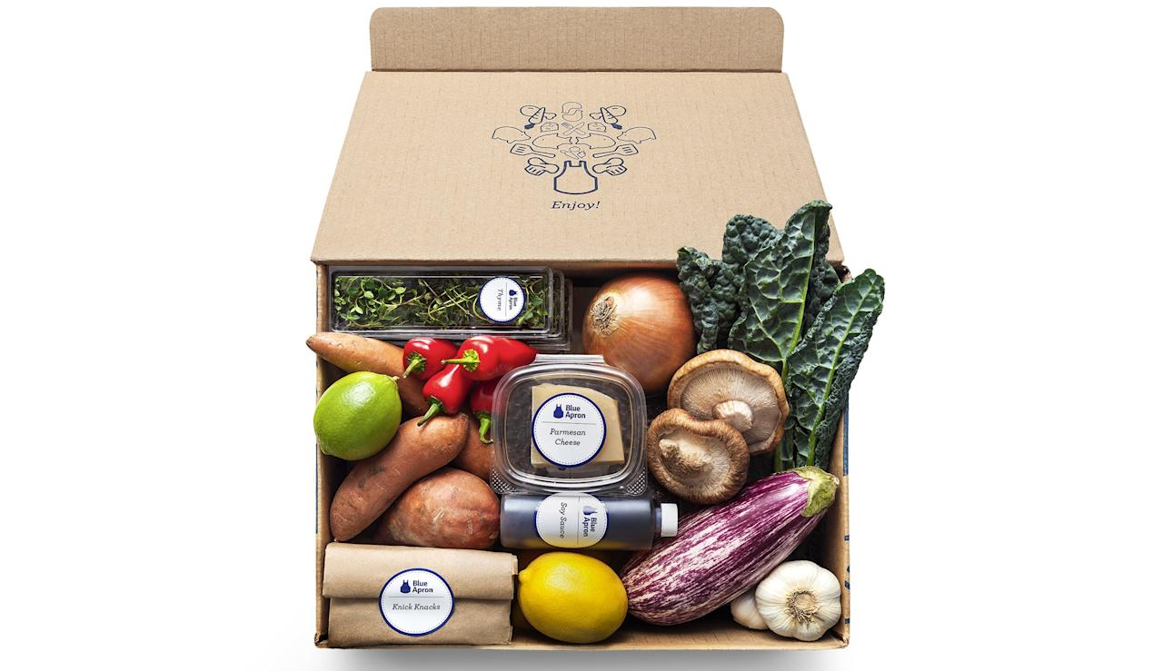 "$60, Blue Apron. <a href=""https://www.blueapron.com/"">Get it now!</a>"