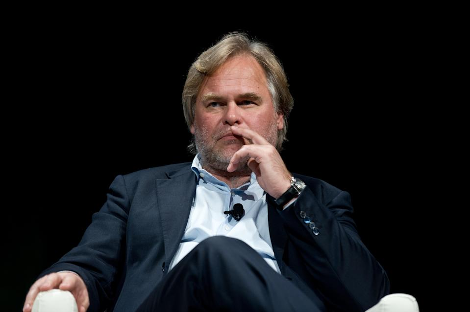 Eugene Kaspersky, CEO of Kaspersky Lab, speaks at the 2013 Government Cyersecurity Forum in Washington,DC on June 4, 2013. (AFP PHOTO/Nicholas KAMM)