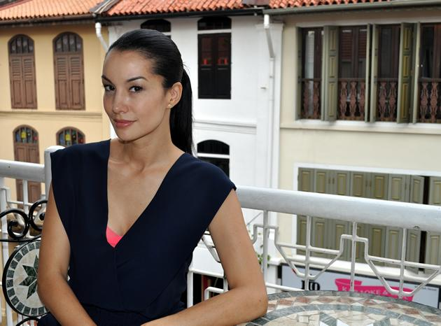 Will the beautiful host of the upcoming Asia's Next Top Model bring the finalists on a diving trip with sharks? (Yahoo! photo)