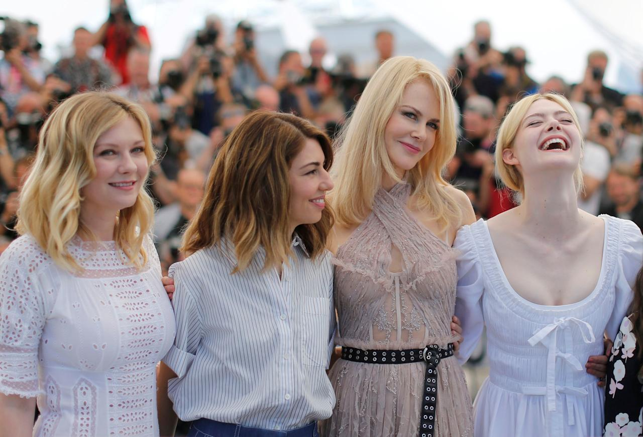 "70th Cannes Film Festival - Photocall for the film ""The Beguiled"" in competition - Cannes, France. 24/05/2017. Director Sofia Coppola and cast members Kirsten Dunst, Nicole Kidman, and Elle Fanning pose.    REUTERS/Regis Duvignau"