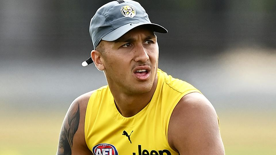 Richmond Tigers star Shai Bolton injured his wrist in a nightclub altercation last weekend. (Photo by Quinn Rooney/Getty Images)