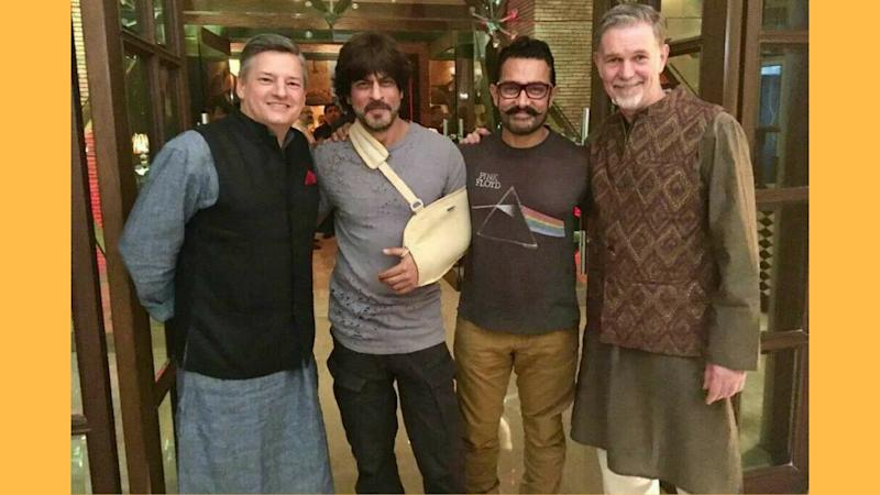 "When Shah Rukh and Aamir Khan ""Netflixed & Chilled"""