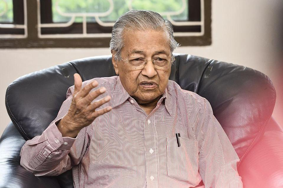 In his blog post, Tun Dr Mahathir also shared stories or rumours of people being detained for no reason, after comparing Malaysia with issues other countries faced. — Picture by Miera Zulyana