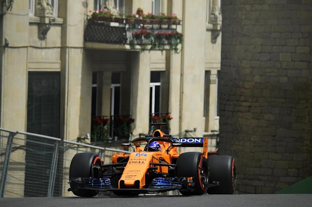 Fernando Alonso steered his stricken McLaren to a remarkable seventh-placed finish in last weekend's Azerbaijan Grand Prix (AFP Photo/Kirill KUDRYAVTSEV)
