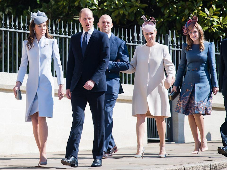 The Royal Family attend the Easter service at St George's Chapel, Windsor - Wireimage