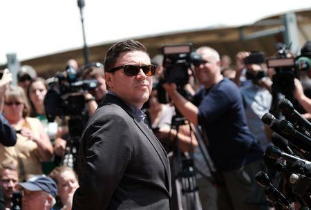 FILE PHOTO: Unite The Right rally organizer Jason Kessler attempts to speak at a press conference in front of Charlottesville City Hall in Charlottesville, Virginia,  August 13, 2017.  REUTERS/Justin Ide