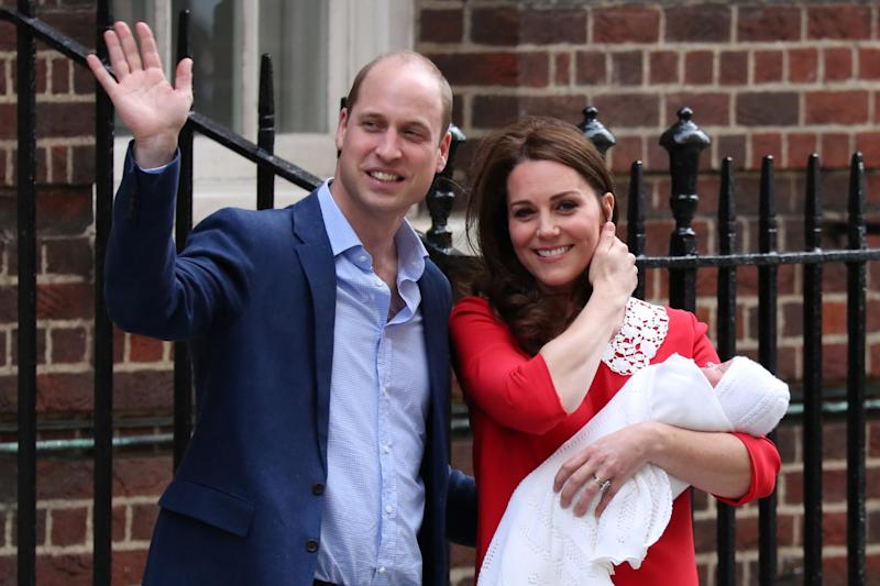 Kate and William pose with Prince Louis in 2018 (AFP/Getty Images)