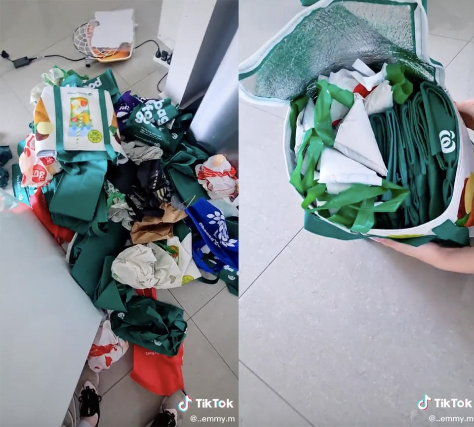 Woolworths reusable plastic shopping bags