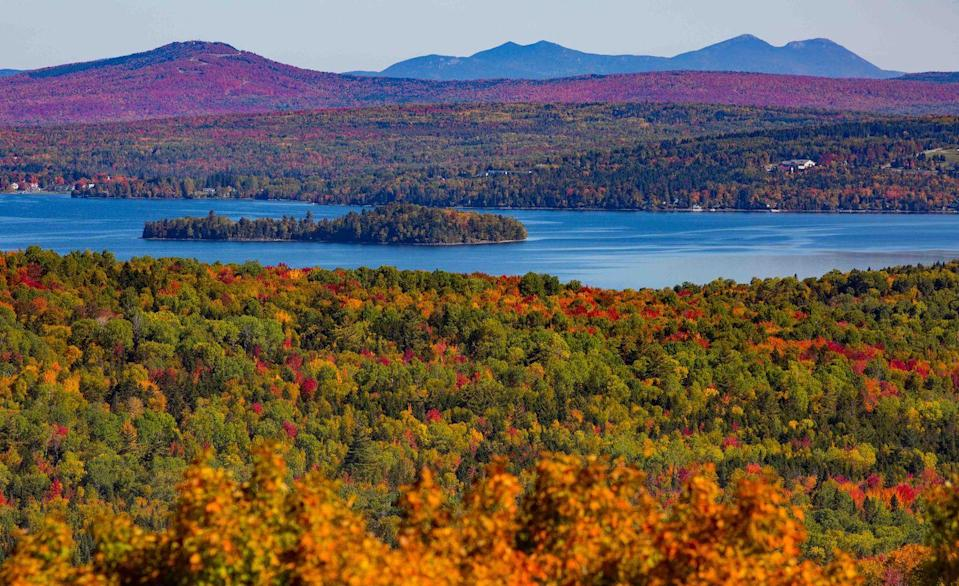 "<p><strong>The Drive: </strong><a href=""https://visitmaine.com/organization/rangeley-lakes-national-scenic-byway/?uid=vtm8C1B75B377331A558"" rel=""nofollow noopener"" target=""_blank"" data-ylk=""slk:Rangeley Lakes National Scenic Byway"" class=""link rapid-noclick-resp"">Rangeley Lakes National Scenic Byway</a> </p><p><strong>The Scene: </strong>This route takes only 2.5 hours to drive, so you can take your time spending the entire day on exploring the beautiful mountainside area. Travel through the Appalachian Mountain ridge line to see some of the state's prime views.</p><p><strong>The Pit-Stop: </strong>Hike to Angels Falls, a 90-foot waterfall that makes a great backdrop for a family photo.</p>"