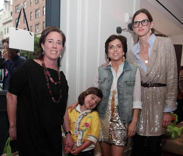 Kate Spade and daughter Frances Spade, Darcy Miller, and Jenna Lyons at the J.Crew Bridal Boutique in 2010 in New York City. (Photo: Astrid Stawiarz/WireImage for J.Crew)