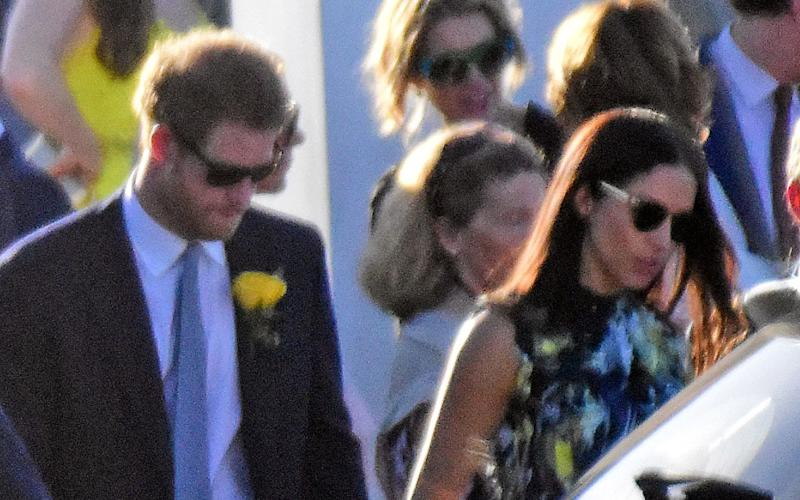 The American actress was spotted with the Prince outside the ceremony - The Mega Agency